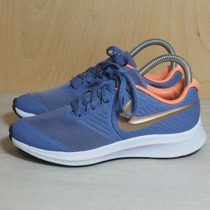 Nike Star Runner 2 Pale Blue / Gold Youth 4.5